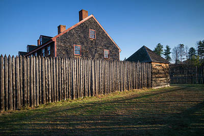 New England States Photograph - Usa, Maine, Augusta, Old Fort Western by Walter Bibikow