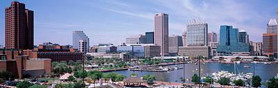 Maryland Photograph - Usa, Maryland, Baltimore, High Angle by Panoramic Images