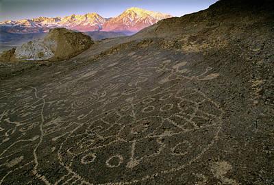 Petroglyph Photograph - Usa, Nevada Circular Petroglyphs by Jaynes Gallery