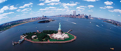 New York Harbor Photograph - Usa, New York, Statue Of Liberty by Panoramic Images