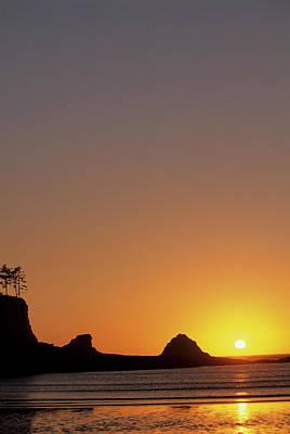 Usa, Oregon, Astoria, Sunset, Sunset Art Print by Gerry Reynolds