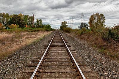 Usa, Oregon, Brooks, Railroad, Digital Art Print by Rick A Brown