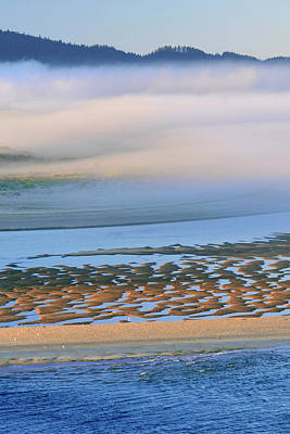 Cape Lookout Photograph - Usa, Oregon Fog Over Netarts Bay Credit by Jaynes Gallery