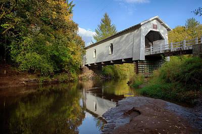 Crabtree Falls Photograph - Usa, Oregon, Scio, Hoffman Bridge by Rick A Brown