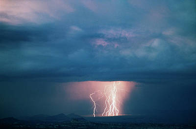 Usa, Utah, Thunderstorm Over Cathedral Art Print