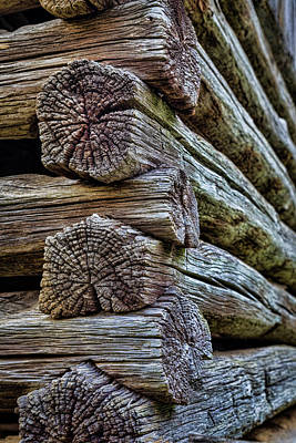 Old Log Cabin Photograph - Usa, Virginia, Roanoke, Explore Park by Jaynes Gallery