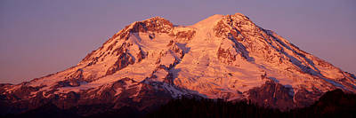 Snow-covered Landscape Photograph - Usa, Washington, Mount Rainier National by Panoramic Images