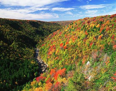 Blackwater Canyon Photograph - Usa, West Virginia, Blackwater Falls by Adam Jones
