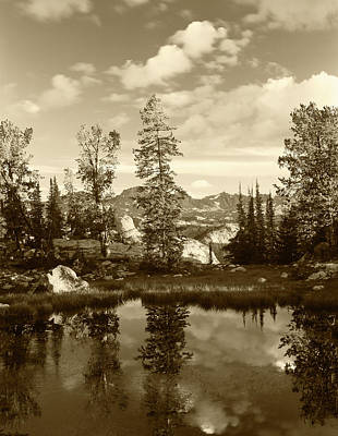 Usa, Wyoming, Landscape With Reflection Art Print