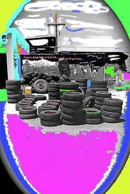 Pop Art - Used Tire Store South 6th Avenue South Tucson Arizona 1984-2009 by David Lee Guss