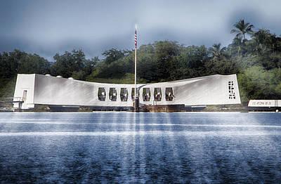 Fallen Soldier Photograph - Uss Arizona Memorial- Pearl Harbor V2 by Douglas Barnard