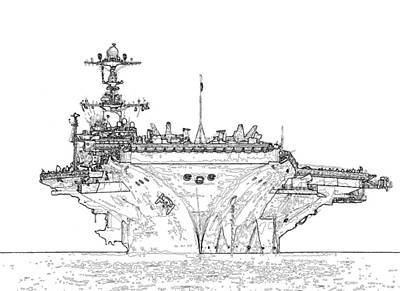 Photograph - Uss George Washington by Herb Paynter