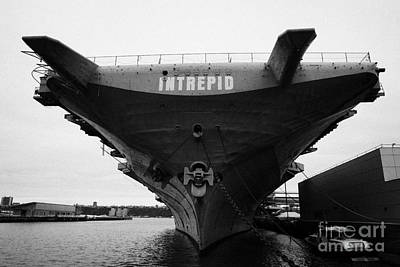Uss Intrepid Aircraft Carrier At The Intrepid Sea Air Space Museum New York Art Print
