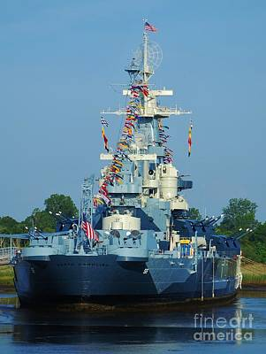 Photograph - Ussnc Battleship With All It's Colors by Bob Sample