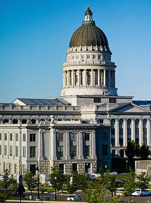 Neoclassical Photograph - Utah State Capitol Building, Salt Lake by Panoramic Images