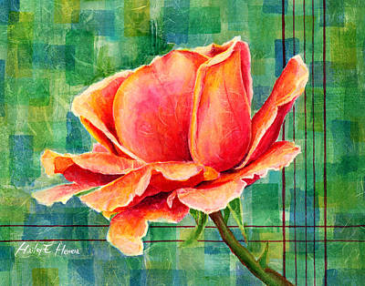 Painting Rights Managed Images - Valentine Rose Royalty-Free Image by Hailey E Herrera