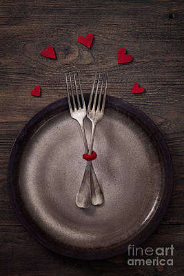 Banquet Photograph - Valentines Dinner by Mythja  Photography
