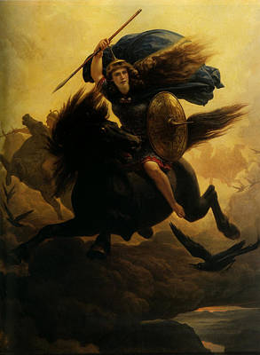 Norse Painting - Valkyrie by Peter Nicolai Arbo