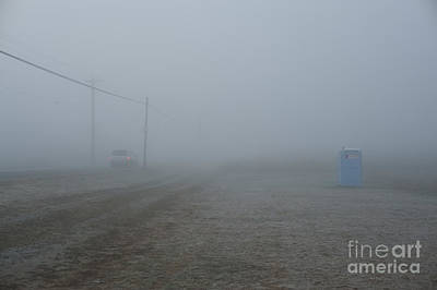 Photograph - Valley Fog With Car And Honey Bucket by Jim Corwin