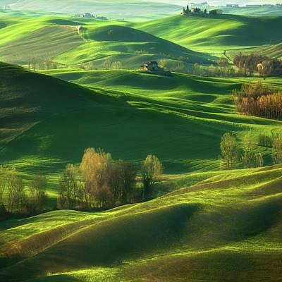 Siena Wall Art - Photograph - Valley... by Krzysztof Browko