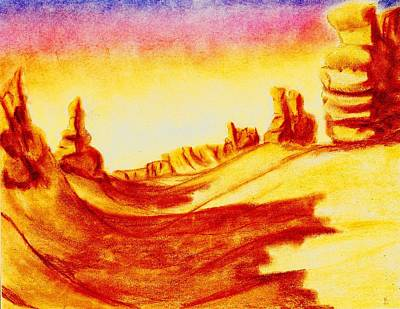 Drawing - Valley Of The Kings by Karen Buford