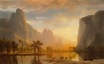 Yosemite Painting - Valley Of The Yosemite by Mountain Dreams