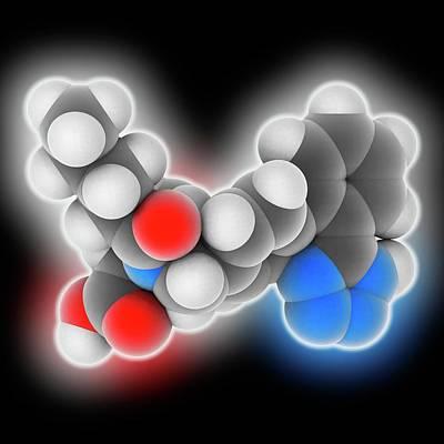 Valsartan Drug Molecule Art Print by Laguna Design