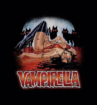 Vampirella Digital Art - Vampirella - Bloodbath by Brand A