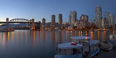 Vancouver Bc Skyline At False Creek At Dusk. Original by Gino Rigucci