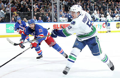 Photograph - Vancouver Canucks V New York Rangers by Jared Silber