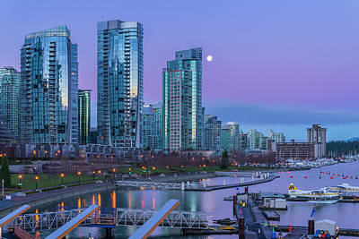Photograph - Vancouver Skyline At Coal Harbour by Michael Wheatley