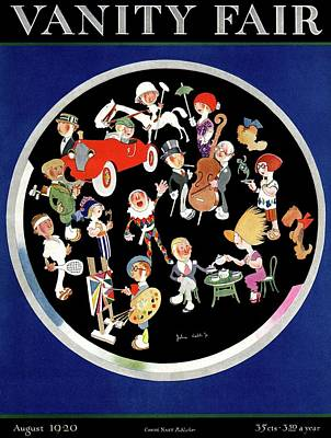 Vanity Fair Cover Featuring Caricatures Doing Art Print