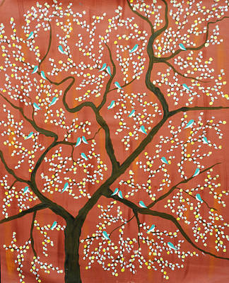 Tree Roots Painting - Vanmesh Riza by Sumit Mehndiratta