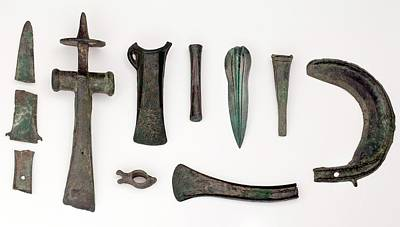 Artefact Photograph - Variety Among Bronze Age Tools by Paul D Stewart