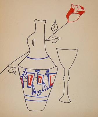 Drawing - Vase by Erika Chamberlin