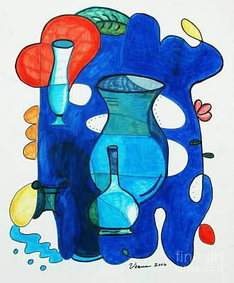 Modernism Mixed Media - Vases by Venus