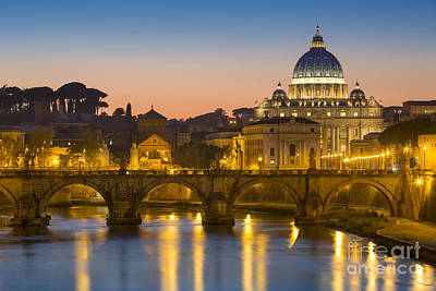 Photograph - Vatican Twilight by Brian Jannsen