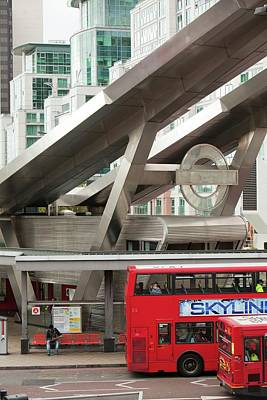 Bus Photograph - Vauxhall Bus Station by Ashley Cooper