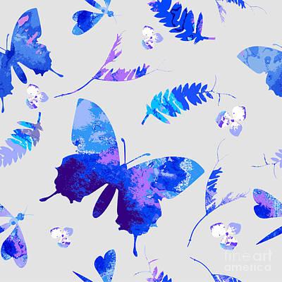 Summer Digital Art - Vector Floral Watercolor Texture by Galinal