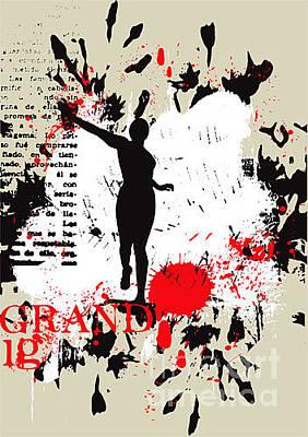 Spot Wall Art - Digital Art - Vector Grunge Background by Ozger Sarikaya