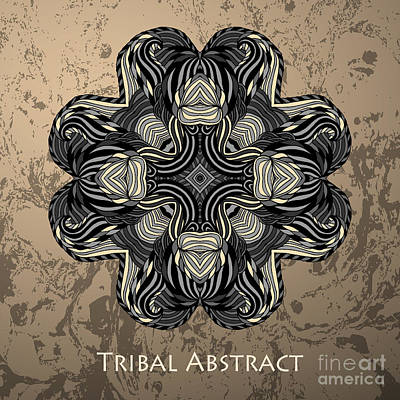 Mandala Wall Art - Digital Art - Vector Tribal Abstract Element For by Kakapo Studio