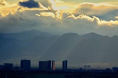 Vegas Sunset After The Storm Art Print