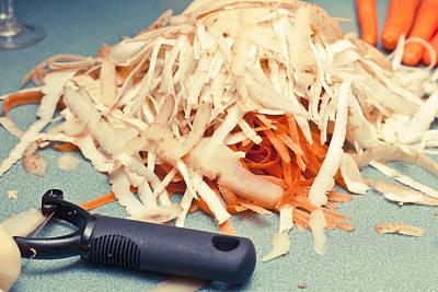 Shred Photograph - Vegetable Peelings by Tom Gowanlock