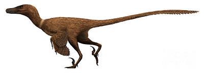 Velociraptor Digital Art - Velociraptor Mongoliensis by Christian Masnaghetti