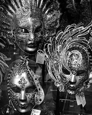 Venetian Carnival Masks Art Print by Tom Bell
