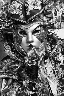 Venetian Mask Art Print by Yuri Santin