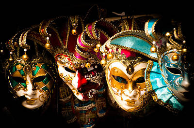 Photograph - Venetian Masks by Mickey Clausen