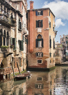Photograph - Venetian Windows Impasto by Sharon Foster