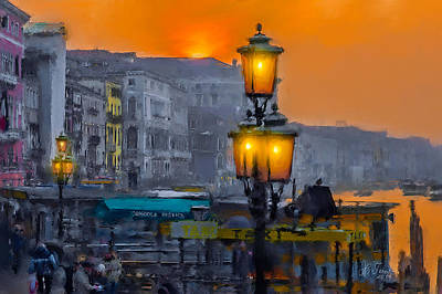 Art Print featuring the photograph Venezia Al Crepuscolo by Juan Carlos Ferro Duque