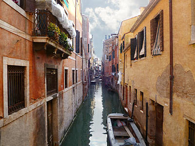 Photograph - Romantic Venice Canal  by Katie Wing Vigil